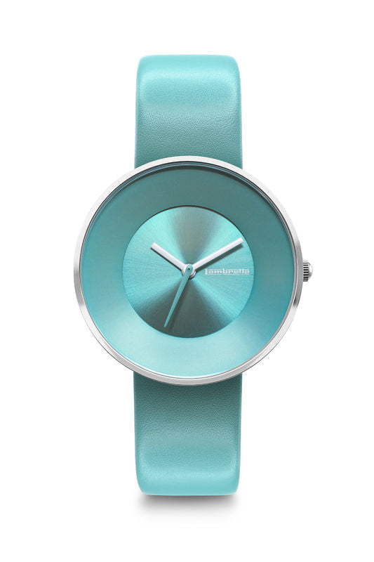 CIELO 34 LEATHER SILVER TURQUOISE