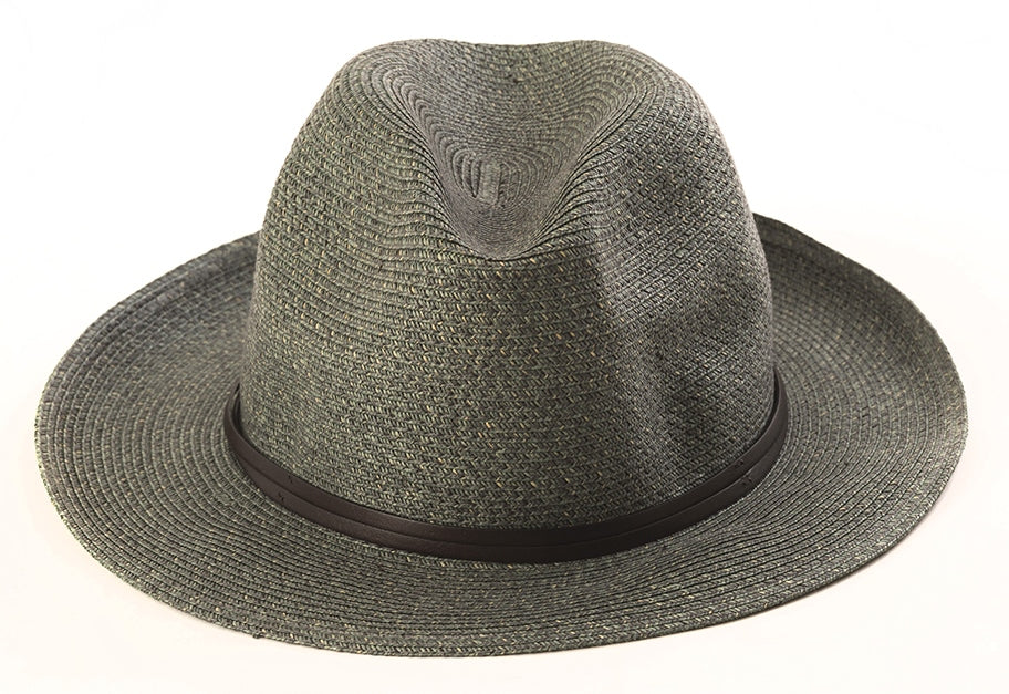 BORSALINO- GRANITE NATURAL PAPER HAT