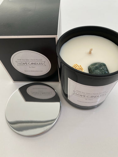 CRYSTAL CANDLES -3 SCENTS/3 DIFF CRYSTAL