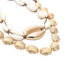KORALU- NATURAL COWRIE SHELL CHOKER/NECKLACE