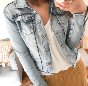 ALL ABOUT THE FRAY- DENIM JACKET