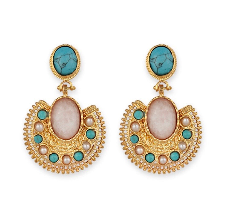 MADELEINE-BIANC  BOHEMIAN LUXE EARRINGS