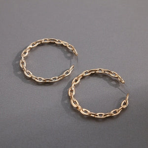 CHAINED- HOOP EARRINGS