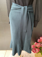 CELIA- TEAL KNIT SKIRT FISH TAIL