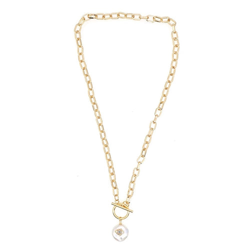 MATI NATURAL PEARL DROP NECKLACE