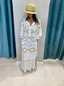 KORI RHOMBUS LINEN MAXI DRESS -3 COLOURS