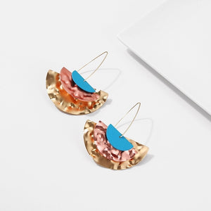 ESW- METALIC DROP EARRINGS
