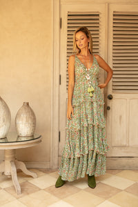 MISS JUNE MAYA FLORAL MAXI DRESS- P126
