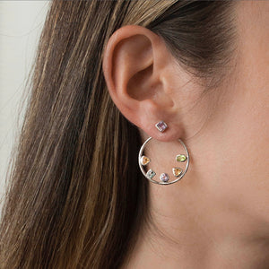 BIANC- FLOATING MULTI STONE EARRINGS