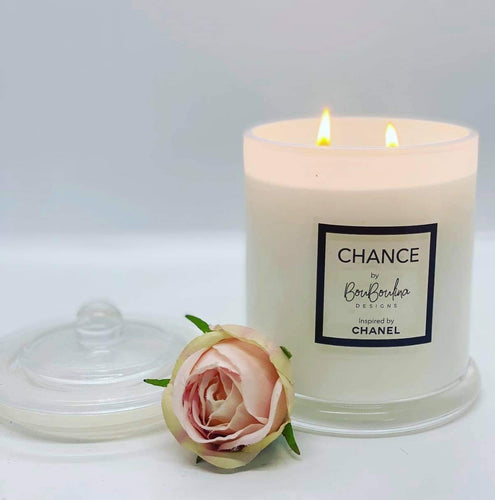 DESIGNER CHANCES BY CHANEL INSPIRED SOY CANDLE- BY BOUBOULINA DESIGNS