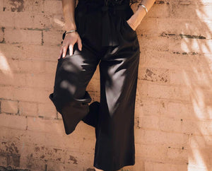 SPICY CULOTTE PANTS-BLACK