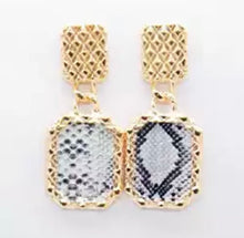 FIDI- SNAKE SKIN EARRINGS 3 COLOURS