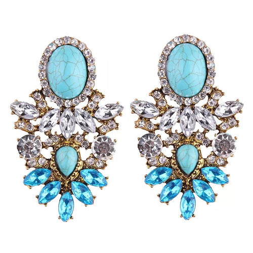 AQUAMARINA- AQUAMARINE EARRINGS