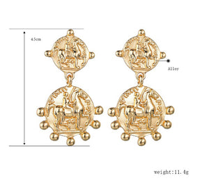 TROY DROP COIN EARRINGS