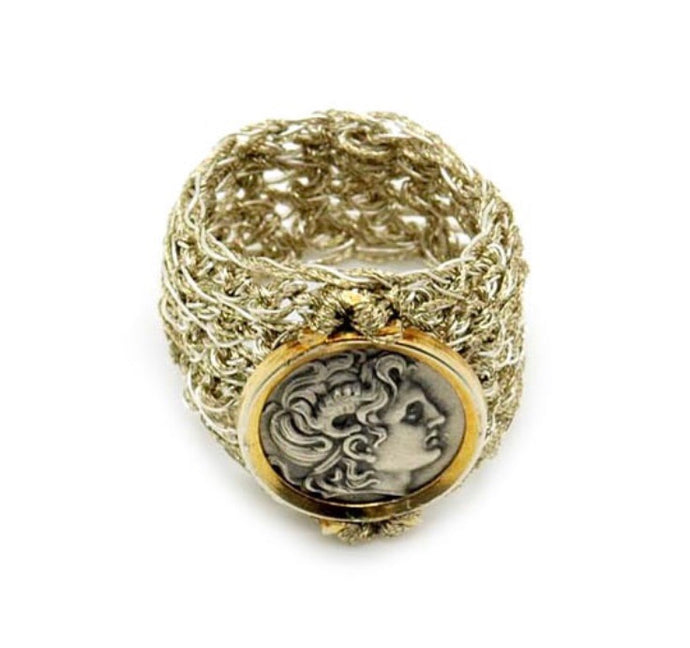 VASSO GALATI -ATHENA GOLD/METAL THREAD RING