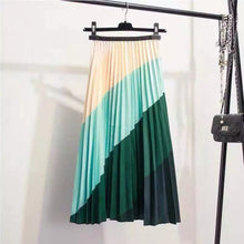 EMERALDA- DIAGONAL  STRIPED 4 TONE SKIRT