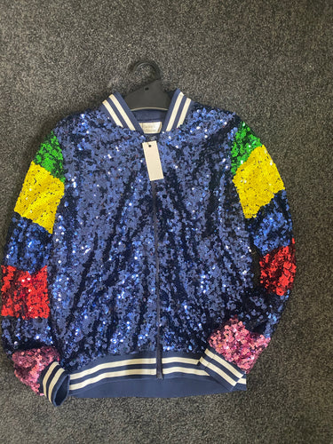FRANKIES SEQUIN BOMBER JACKET -2 COLOURS