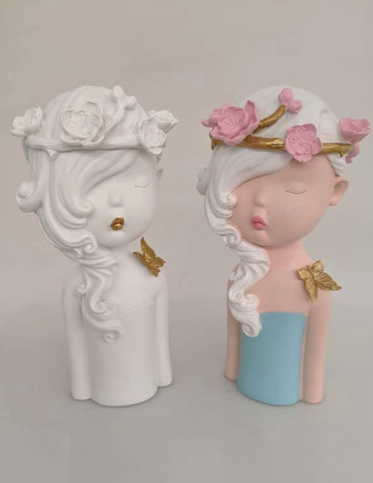 SLEEPING ELSA RESIN FIGURINE- 2 COLOURS
