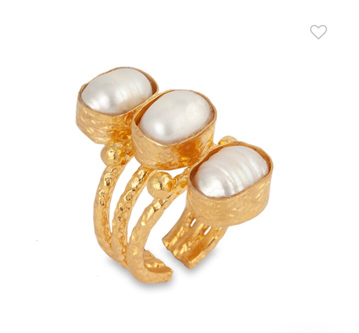 AURORA PEARL RING- BIANC JEWELLERY