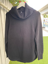KAROLINA-COWL NECK BLACK-KNIT