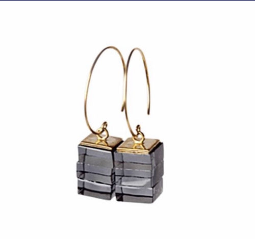 ROSA MENDEZ- NEW YORK DANGLE HOOP EARRINGS