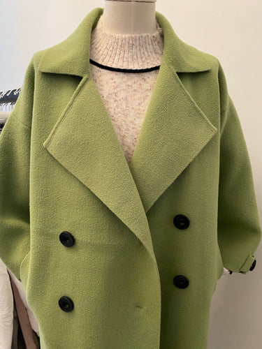 MEGHAN DOUBLE BREASTED JACKET-ALMOND GREEN