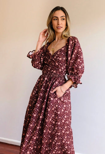 AULIEUDE CHARLOTTE FLORAL 2 WAY DRESS