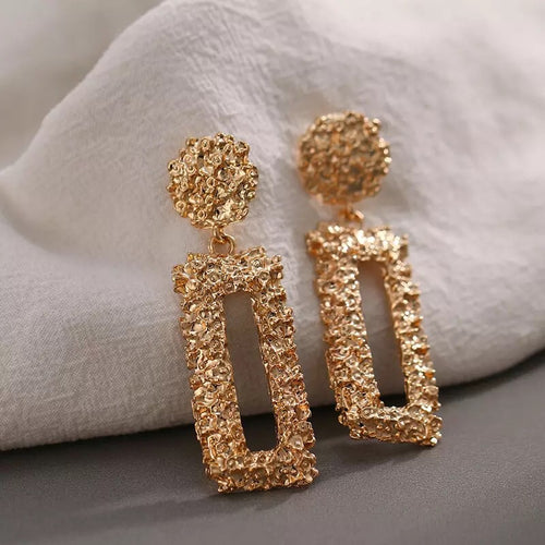 FERRA- GOLD GEOMETRIC DROP EARRINGS