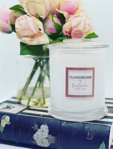DESIGNER FLOWERBOMB SCENTED INSPIRED CANDLE- BY BOUBOULINA DESIGNS