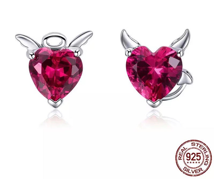 ANGEL OR NOT STERLING SILVER CUBic ZIRCONIA STUDS