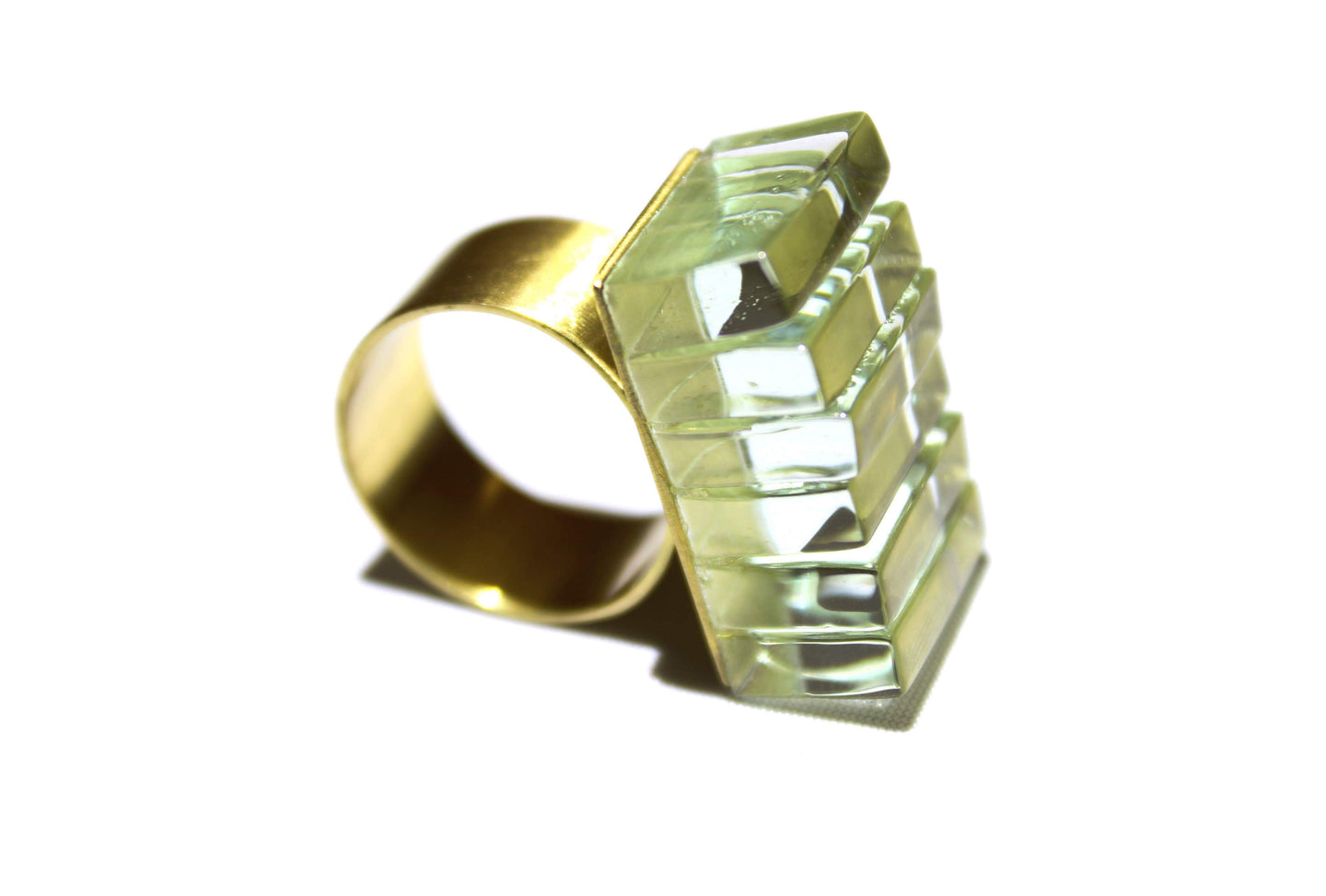 ROSA MENDEZ- NEW YORK SIDE STACKED GLASS RING