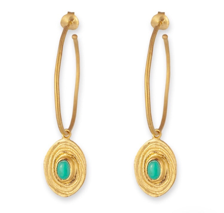 CAIRO TURQUOISE DROP EARRINGS- BIANC JEWELLERY