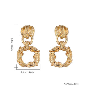 BUCKLE UP-VINTAGE GOLD DROP EARRINGS
