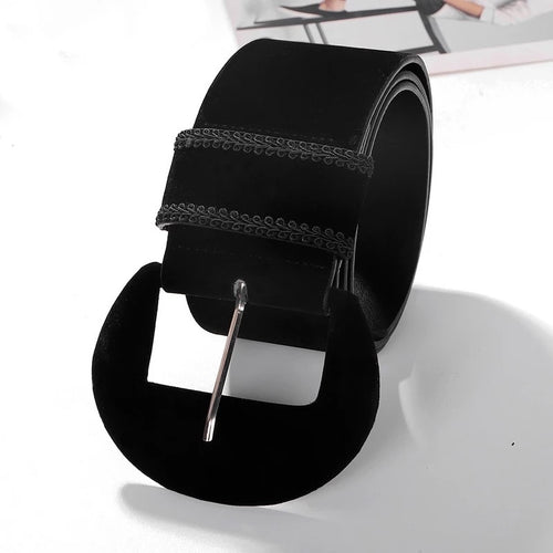 SUAVE VELVET STYLE THICK  EMBROIDERED BELT