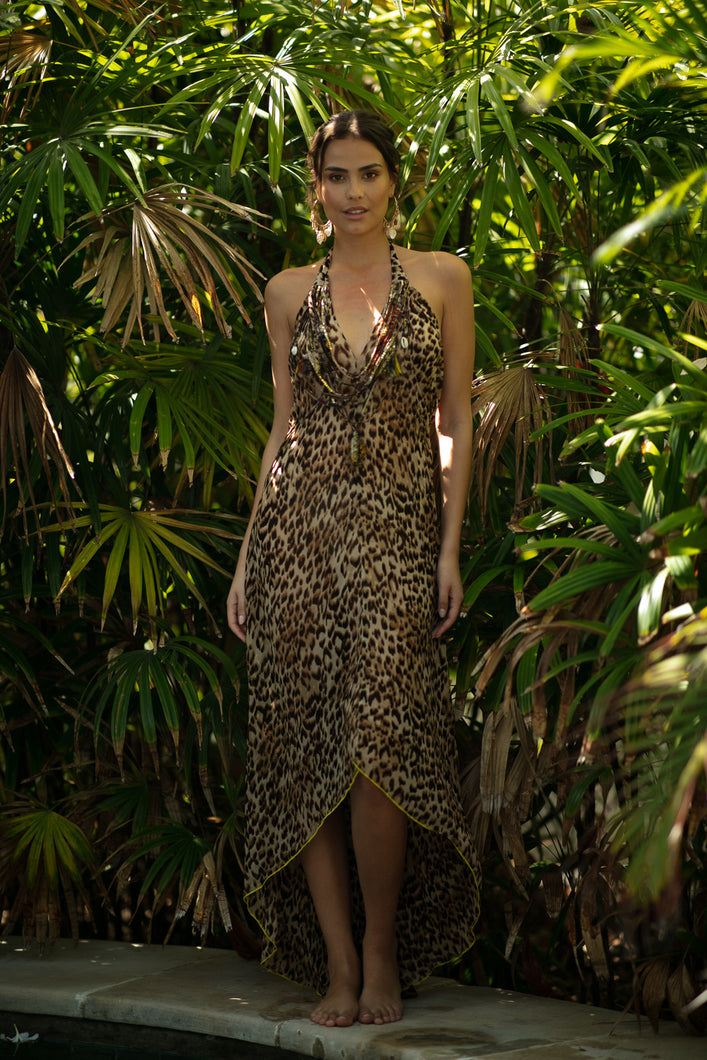 MISS JUNE PARIS MOUNDA DRESS JUNGLE NATURAL -P48