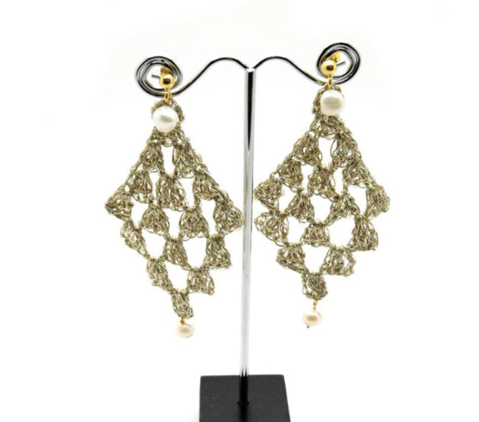 VASSO GALATI -AETA- GOLD THREAD EARRINGS