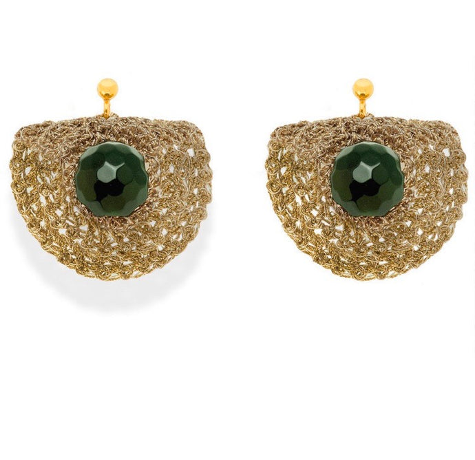 VASSO GALATI- CRES WOVEN EARRINGS