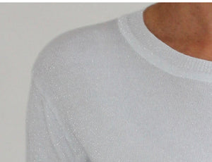 FRANKIE'S LUREX KNIT TEE- 6 colours available