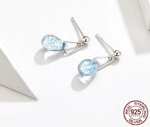 STERLING SILVER CRYSTAL DROPS