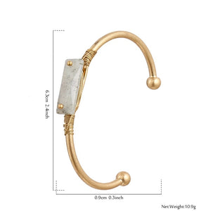 GRIZO- NATURAL STONE BANGLE
