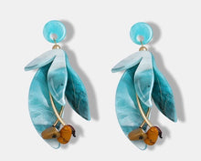 SPANGA- RESIN ACRYLIC FLOWER EARRINGS- 2 colours