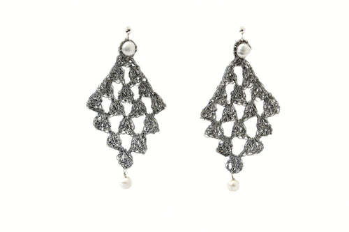 AETA- SILVER THREAD EARRINGS