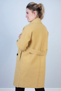 MEGHAN- DOUBLE BREASTED JACKET-MUSTARD