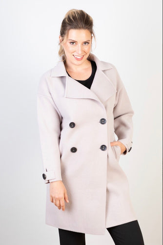 MEGHAN- DOUBLE BREASTED COAT-LAVENDER