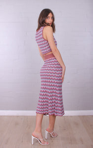 MISO- ZIG ZAG KNIT SKIRT- 2 COLOURS
