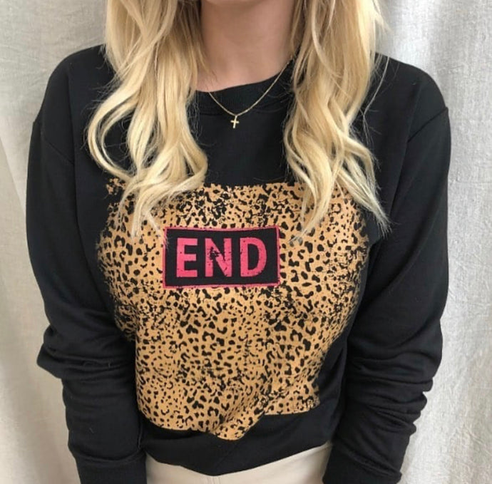 END2020- LEOPARD DETAIL SWEATER