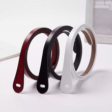 SKINNY LEATHER BELT -5 colours