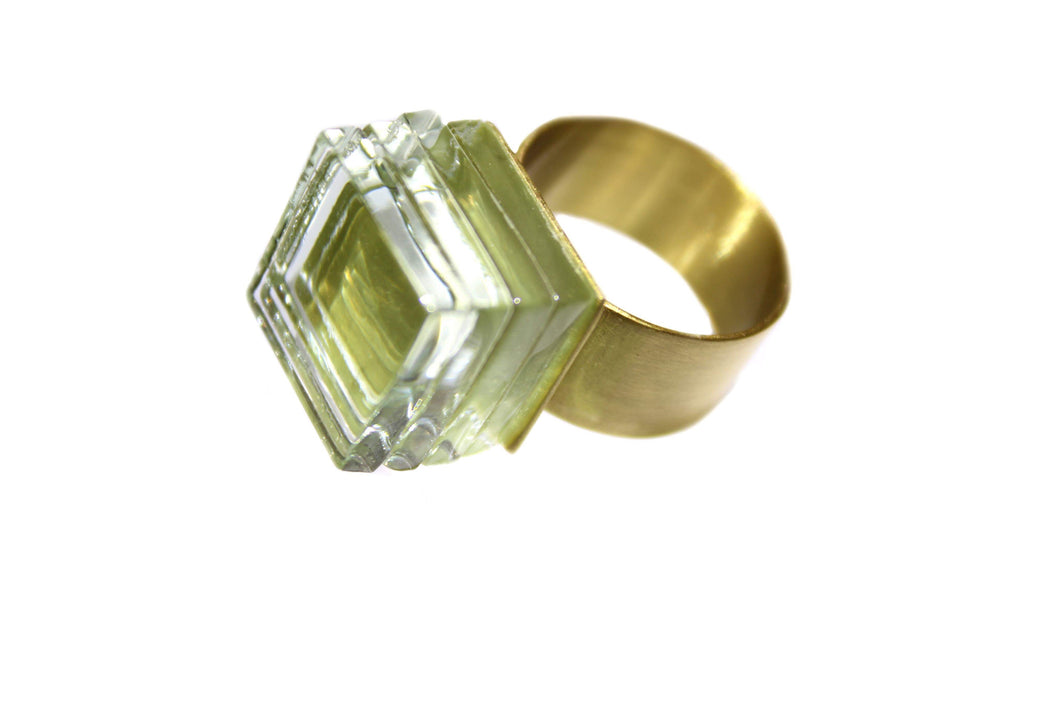 ROSA MENDEZ-NEW YORK GLASS STACK RING
