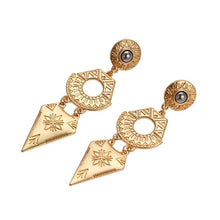 COSMICO- GOLD PATERN DROP EARRINGS