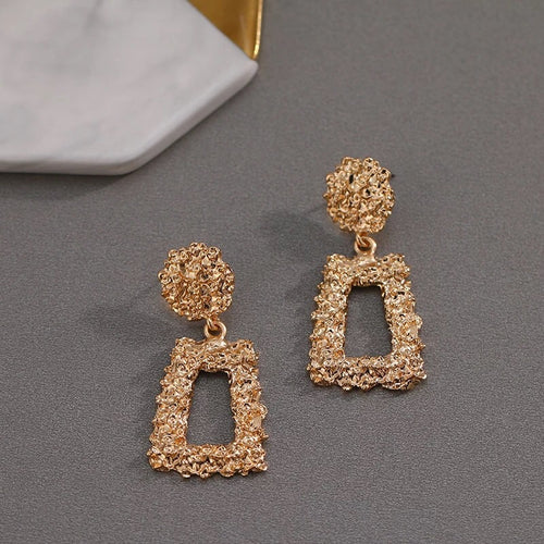 SMALL MECCA- GOLD GEOMETRIC DROP EARRINGS